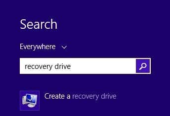 how to create a recovery drive