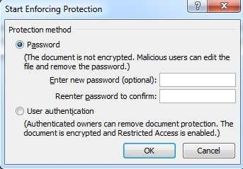 enter password protection