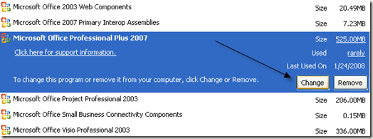 Microsoft Office Professional 2007 Install Problem