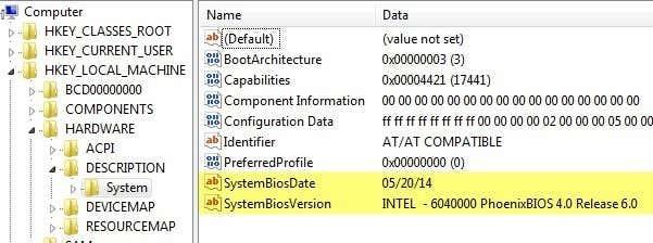 registry system bios