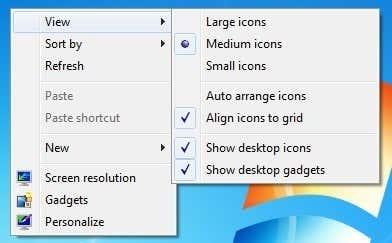 show desktop icons