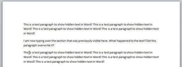 view hidden text