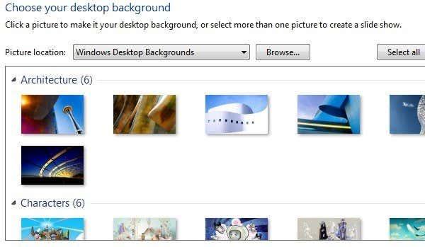 Remove Desktop Background Wallpapers In Windows