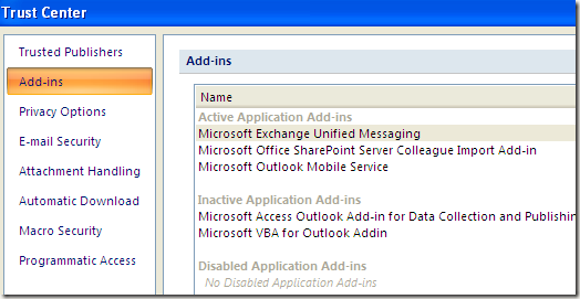 outlook add ins