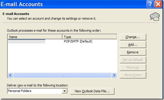 outlook email accounts