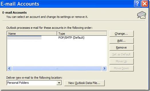 cuentas de correo de outlook