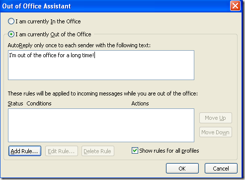 How to set away message in outlook - Set up out of office in outlook ...