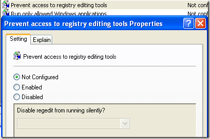 registry disabled by administrator