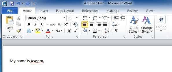 test file word