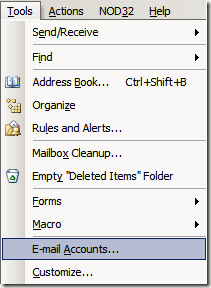 tools email accounts