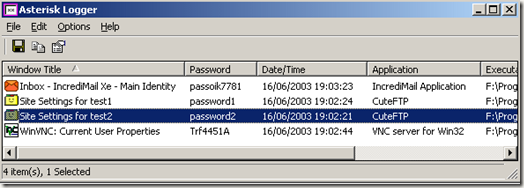 reveal hidden passwords