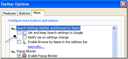 search settings notifier