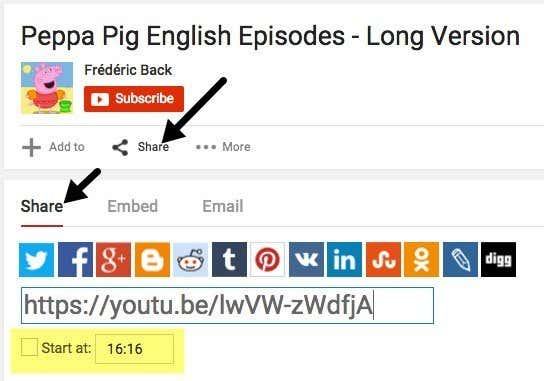How To Specify A Starting Point For Youtube Videos