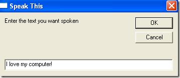 Make Computer can Speak