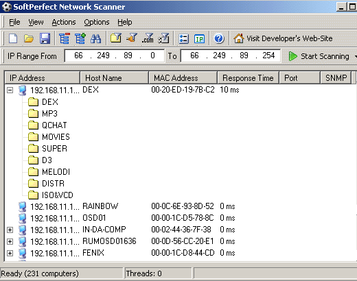 Free Advanced Network Ip And Port Scanner Security Tool