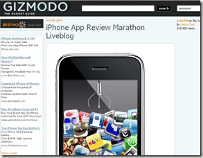 gizmodo iphone apps