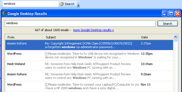 Search Outlook Email by Sender, Date, Keyword, Size and More
