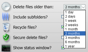 how to delete compress old files
