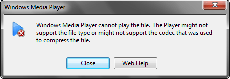 Can't Play AVI Files in Window Media Player?