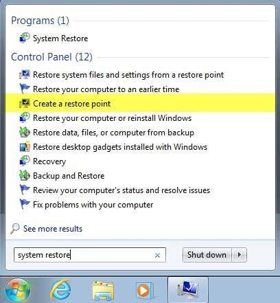 How to Enable or Disable System Restore in Windows