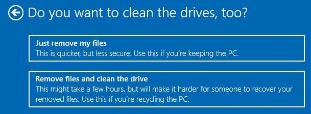 how to clear a hard drive and install windows 10