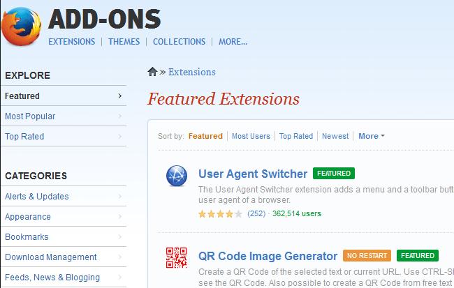 add-ons website firefox