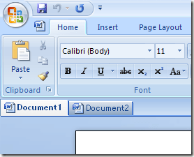 tabbed interface word
