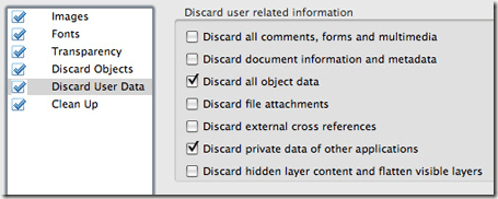 discard user data pdf