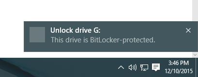 drive is protected