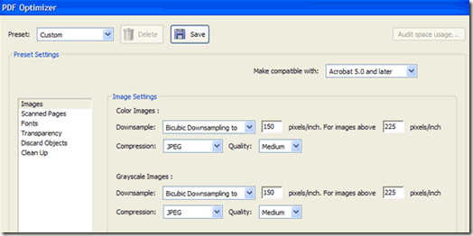 reduce size of pdf
