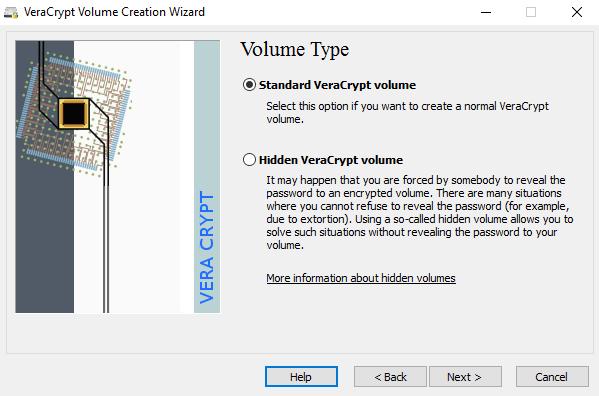 standard hidden volume