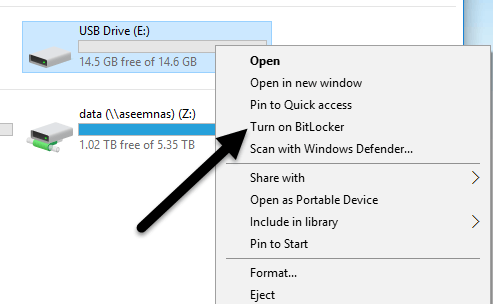 how to put password on external hard drive