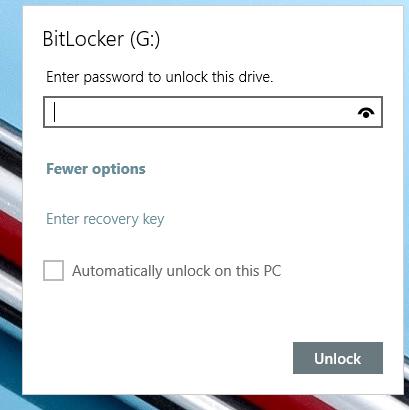 unlock usb drive
