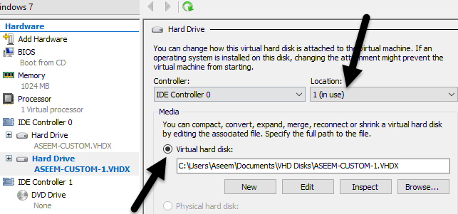 Convert a Windows PC into a Virtual Machine using Hyper-V