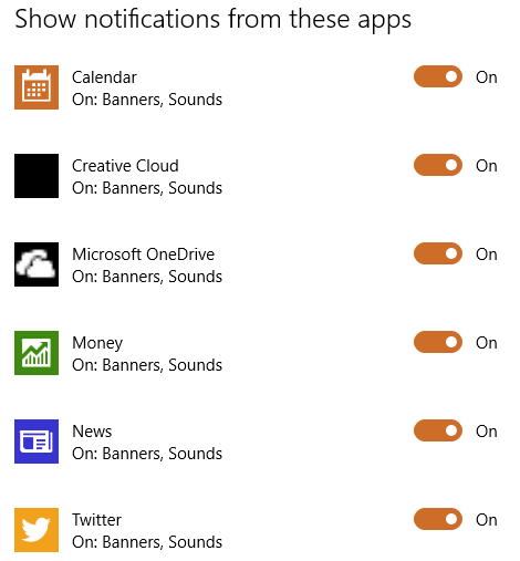 app notifications windows 10