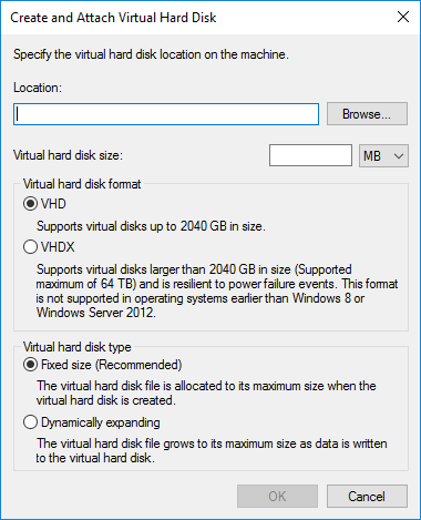 How to Create and Mount a Virtual Hard Disk in Windows