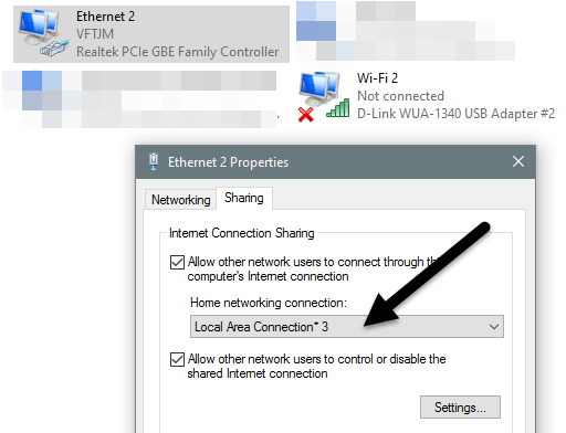 How to Share an Internet Connection with Other Computers