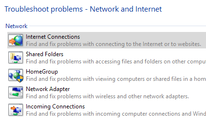 Troubleshoot Cannot Connect to Internet in Windows