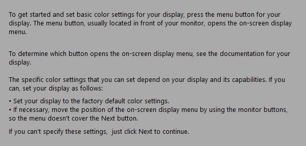 reset display settings