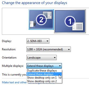 setup multiple monitors windows 7