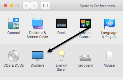 system preferences displays