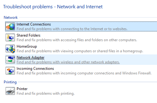 troubleshoot network problems