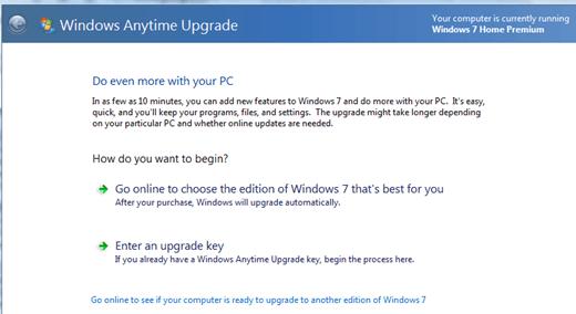 la actualización de windows 7