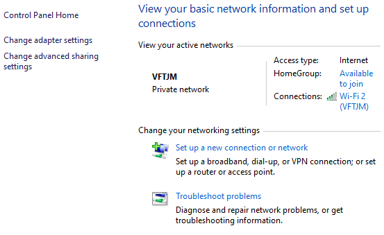Guide to Network and Sharing Center in Windows 7, 8, 10