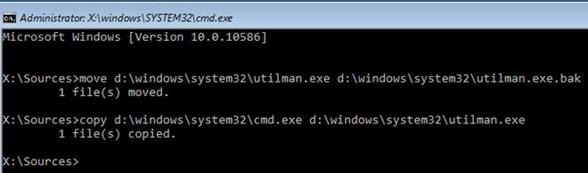 windows reset administrator password