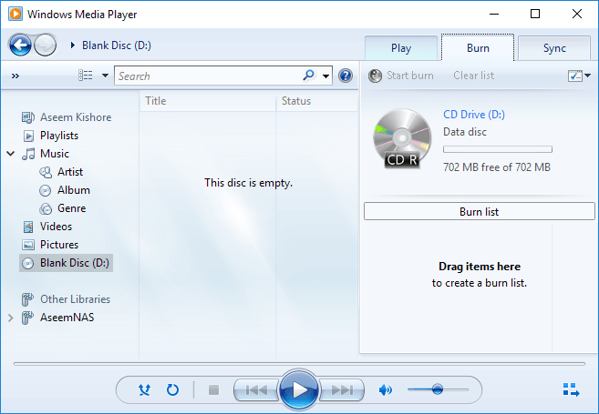 free cd player software for windows 7