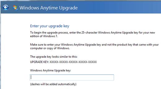 windows 7 upgrade key