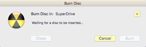 burn disc in