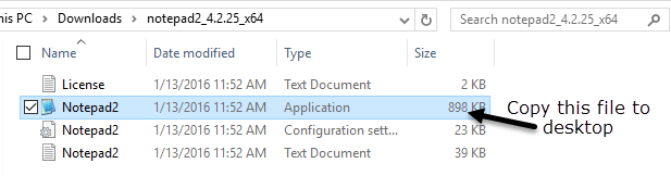 copy file to desktop