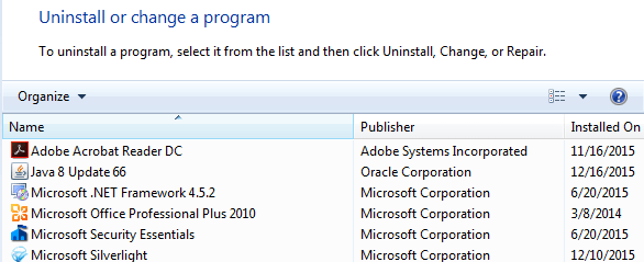 Remove Stuck Entries from Programs and Features